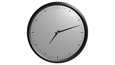 12 hours wall clock Stock Video Footage