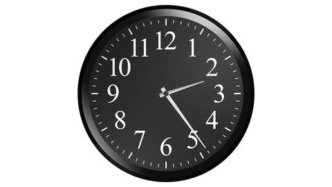 black wall clock Stock Video Footage