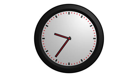 3D clock animation Stock Video Footage