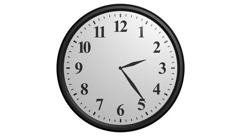 12 hours clock cycle Stock Video Footage