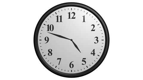 12 hours clock cycle Animation