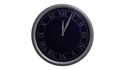 classic clock design Stock Video Footage