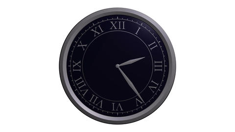 classic clock design Stock Video Footage