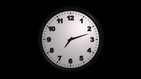 12 hours timer with alpha Stock Video Footage