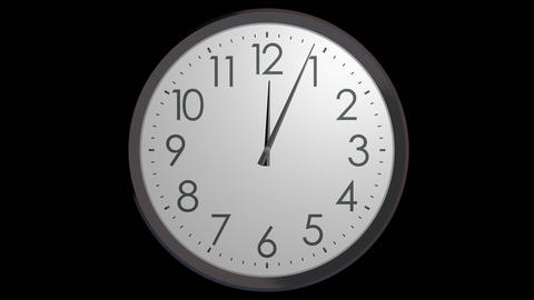 time running wall clock with alpha Stock Video Footage