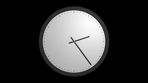 animation white clock with alpha Animation