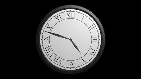 classic wall clock with alpha Stock Video Footage