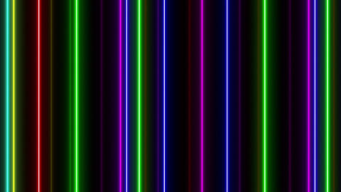 Neon tube W Tsf F L 1 HD Stock Video Footage
