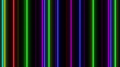 Neon tube W Tsf F L 1 HD Stock Video Footage