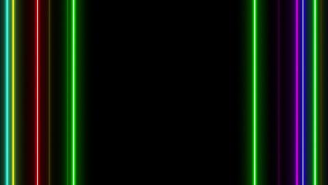 Neon tube W Tsf S L 1 HD Stock Video Footage