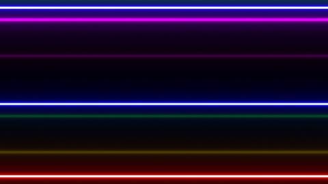 Neon tube W Ybf F L 1 HD Stock Video Footage