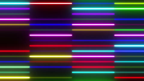 Neon tube W Ybf F S 1 HD Stock Video Footage