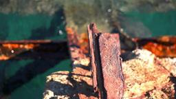 Industrial Steel Pier Water Dolly Stock Video Footage