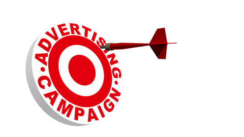 Target Advertising Campaign 3D Stock Video Footage
