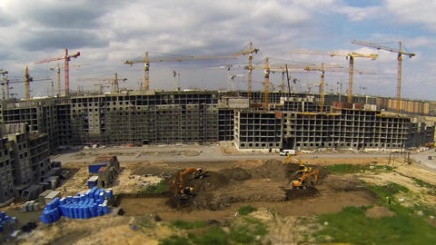 big construction Stock Video Footage