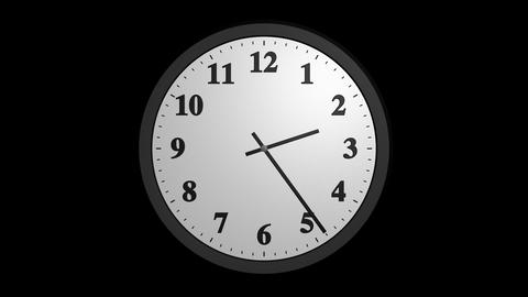 speed up clock with alpha Stock Video Footage