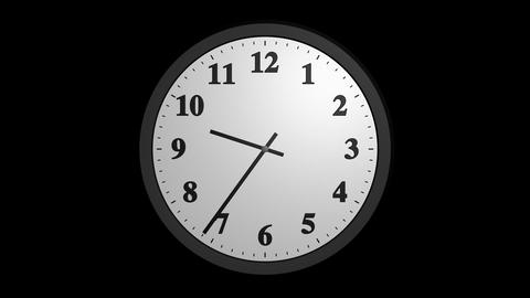 Speed Up Clock With Alpha stock footage