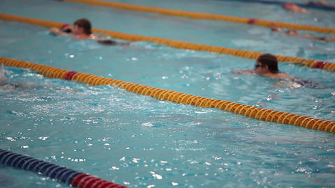 young swimmers Stock Video Footage
