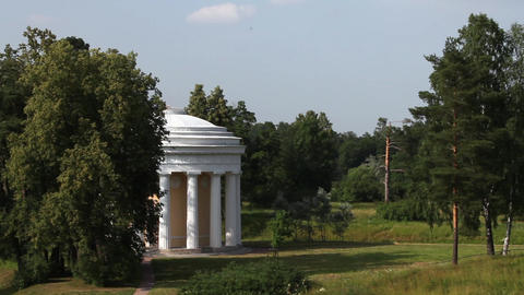 Temple of friendship in Pavlovsk Stock Video Footage