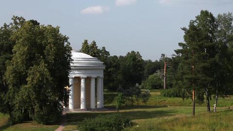 Temple of friendship in Pavlovsk Stock Video Footage