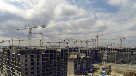 big Construction Site Stock Video Footage