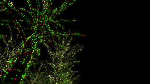 illumination tree neon A 2m HD Stock Video Footage