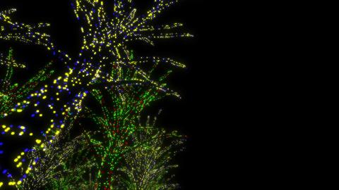 illumination tree neon A 2m HD Stock Video Footage