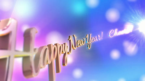 Happy New Year Scroll stock footage