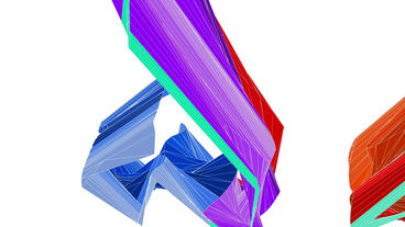 flow rainbow mesh ribbon waves,abstract design art... Stock Video Footage