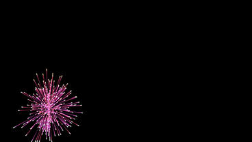 Beautiful colorful fireworks exploding in sky,Happy New... Stock Video Footage