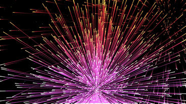 Beautiful colorful fireworks exploding in sky,Happy New Year holidays Animation