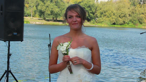 Bride Smiling 2 Stock Video Footage