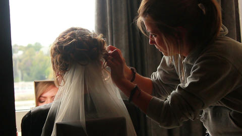 Bride Style Hair 4 Footage