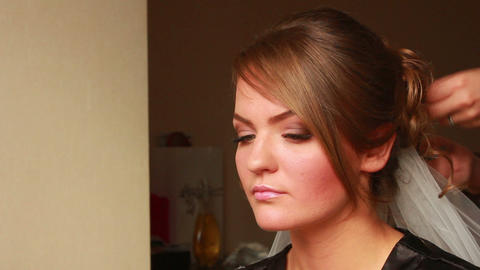 Bride Style Hair 4 Stock Video Footage