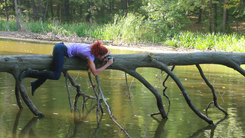 Photographer at work Stock Video Footage