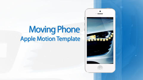 Moving Phone 15s Commercial White - Apple Motion and Final Cut Pro X Template Apple Motion Template
