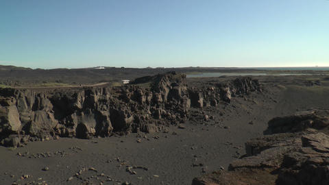 Rift Between Eurasian And North American Tectonic  stock footage