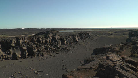 rift between eurasian and north american tectonic Stock Video Footage