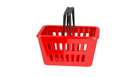 Empty shopping basket Stock Video Footage