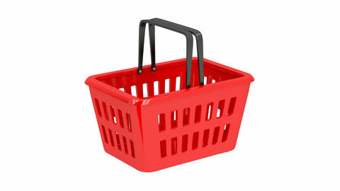 Empty Shopping Basket stock footage