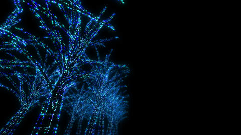 illumination tree neon D 3m HD Animation
