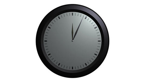 white wall clock ticking Animation