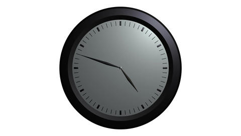 white wall clock ticking Stock Video Footage