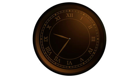 classic gold clock Stock Video Footage