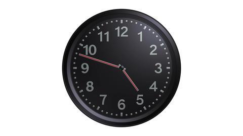 exclusive black clock Stock Video Footage