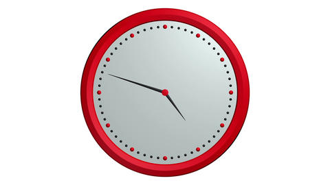 red black clock ticking Animation