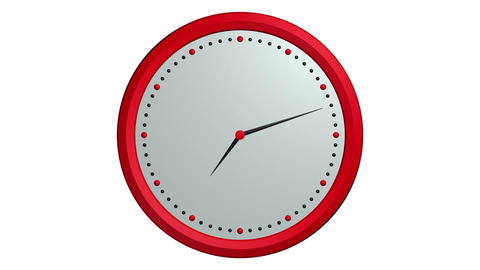 red black clock ticking Stock Video Footage