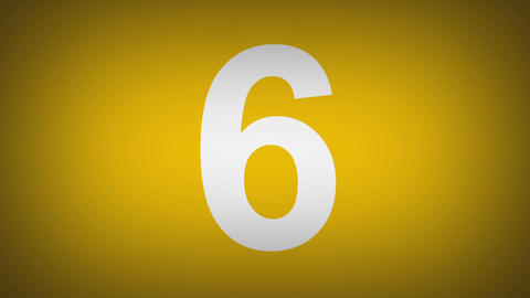 Multicolor countdown Stock Video Footage