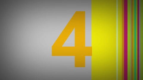 Multicolor countdown Animation