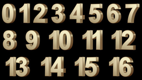 0-100 numbers Stock Video Footage
